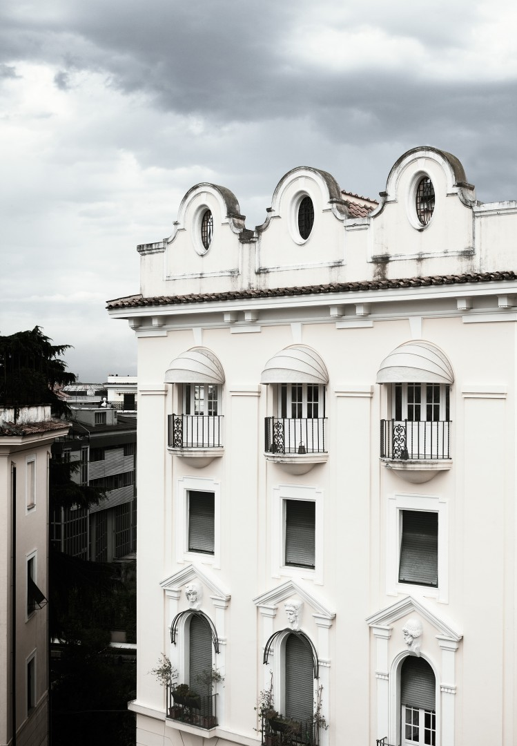 Rome White Apartment Building Exterior