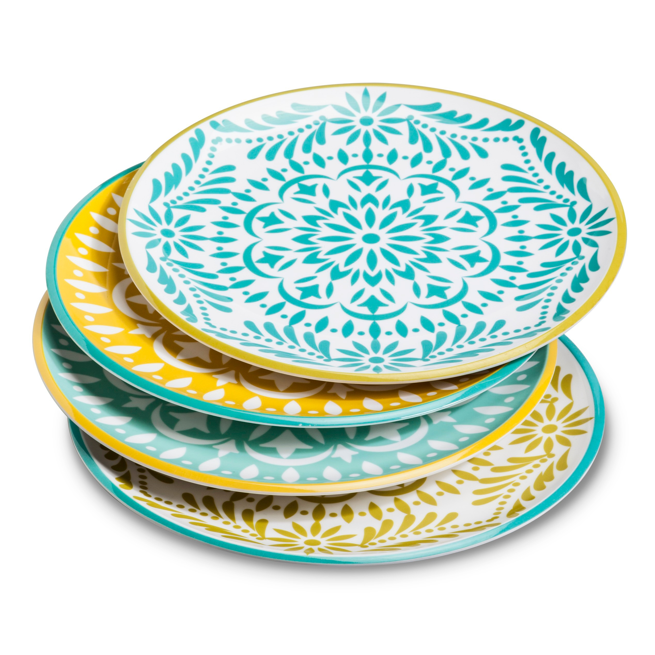 $26.00/set of 4 These Target plates are a perfect budget friendly option for summer dining!  sc 1 st  Cococozy & 11 Melamine Plates | COCOCOZY