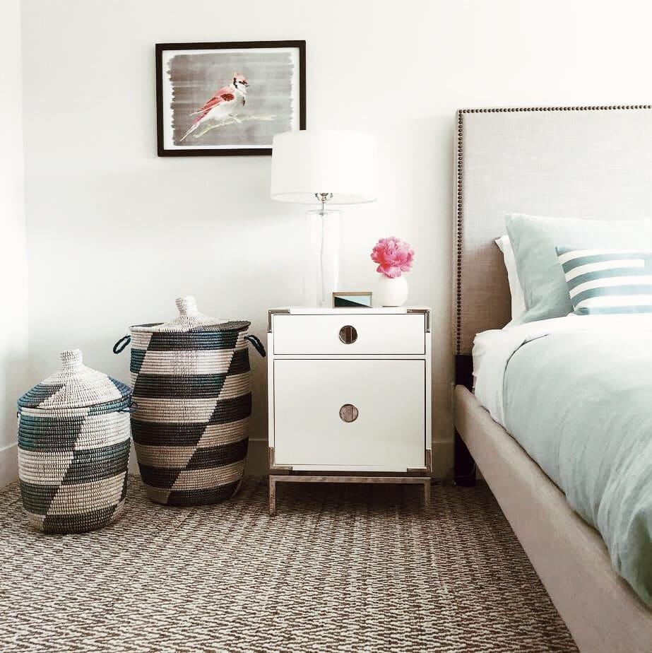White Nightstands Lisa Gutow Designs