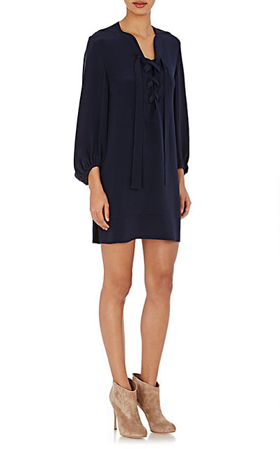 Derek Lam Crepe Shift Dress Little Blue Dress Cococozy