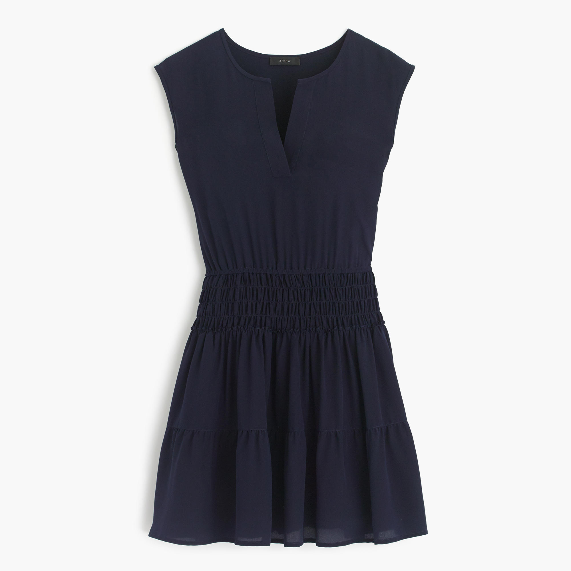 Little Blue Dress J Crew Smock Waist Navy Mini