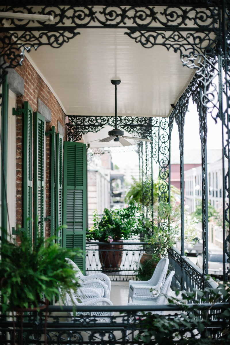 new orleans southern porches wrought iron railing