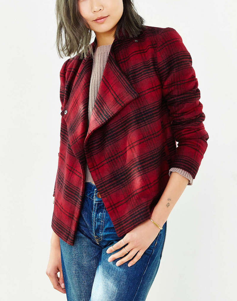 Urban outfitters perfectly plaid jacket