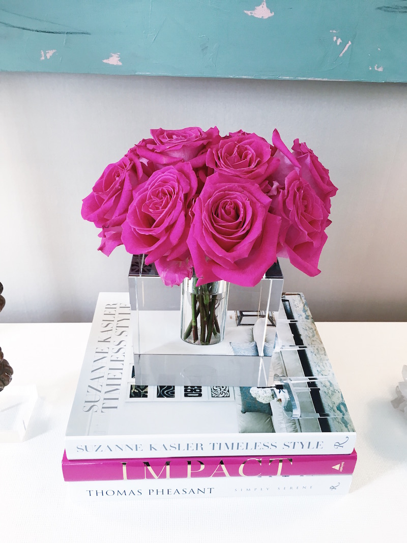 Bright White desk Pink Peonies Paloma Contreras Southern Style Now Showhouse