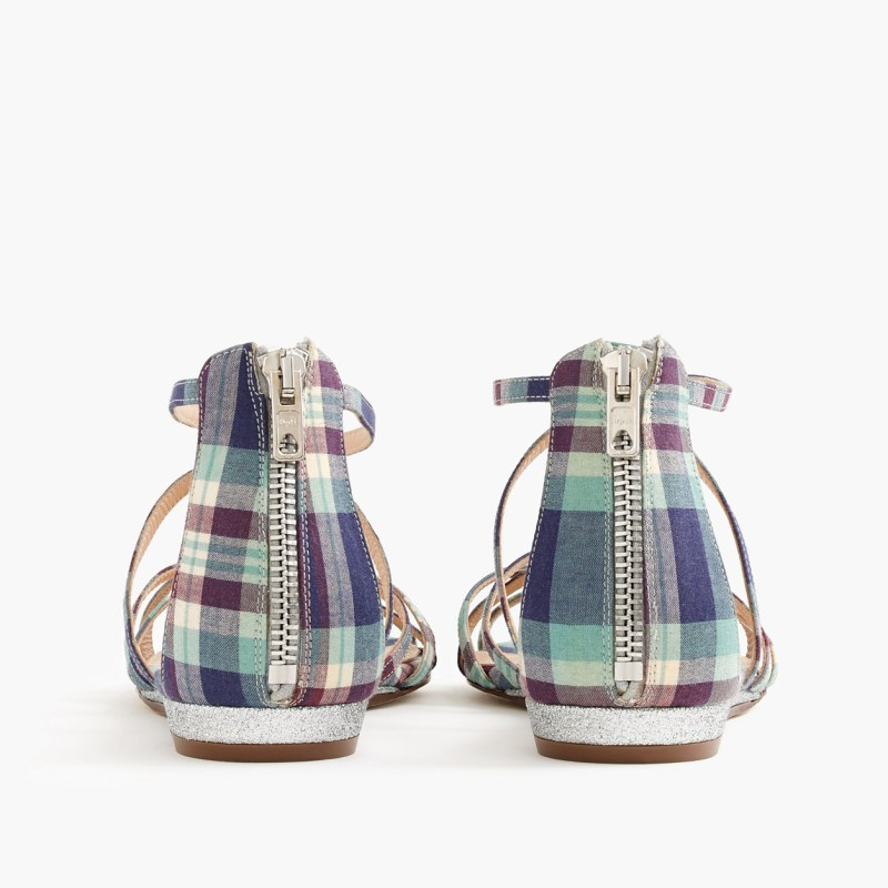 mini wedge perfectly madras plaid flat