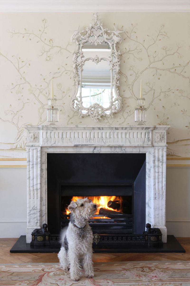 De Gournay Chinoiserie Askew Marble Fireplace