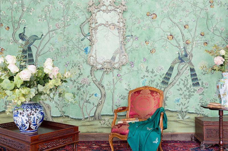 De Gournay Chinoiserie St Laurent Sitting Area