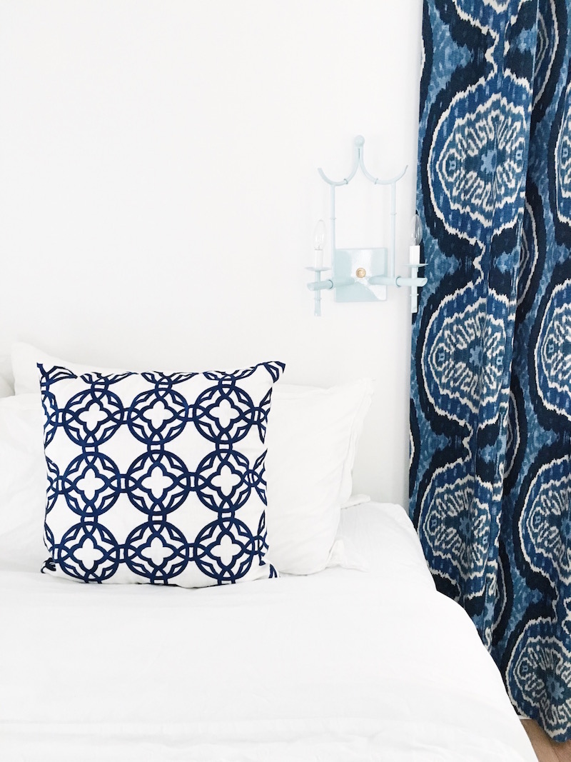 East Hampton Blue White Guest Bedroom Cococozy Pillows