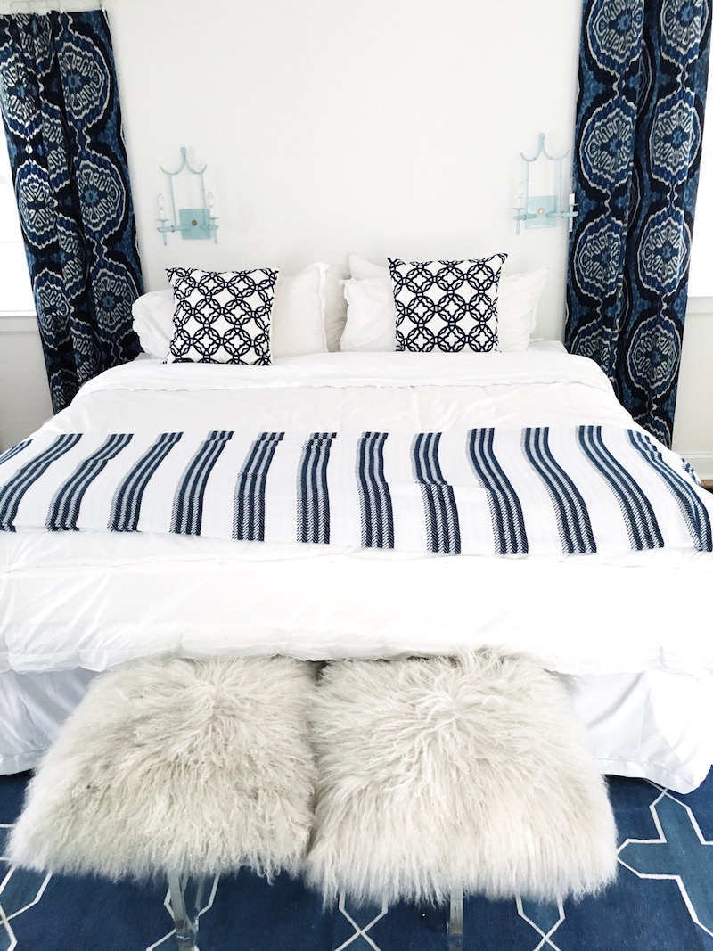 East Hampton Blue White Guest Bedroom