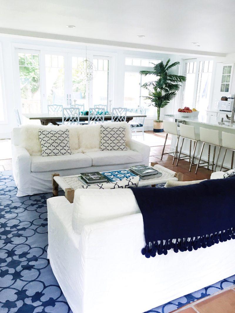 East Hampton white living room