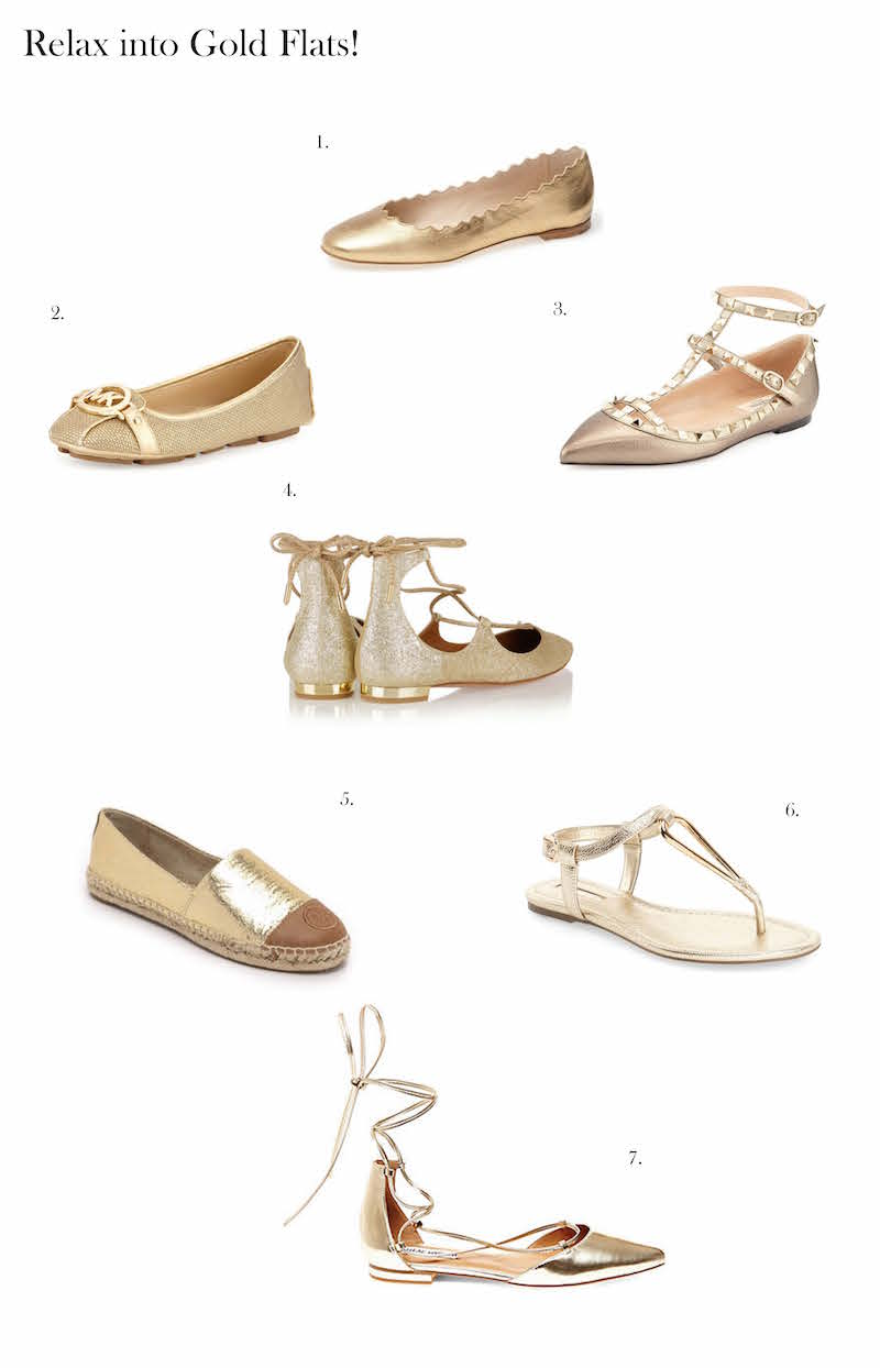 Gold Shoes Fashion Finds