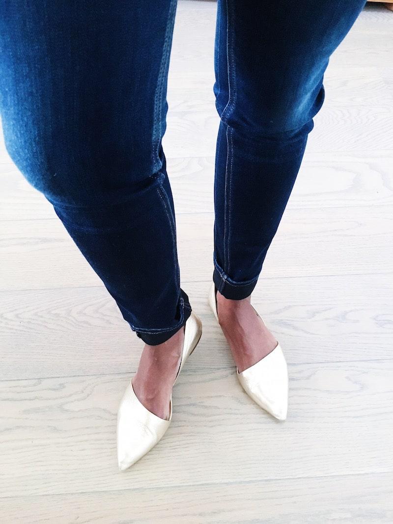 JCrew Gold Shoes