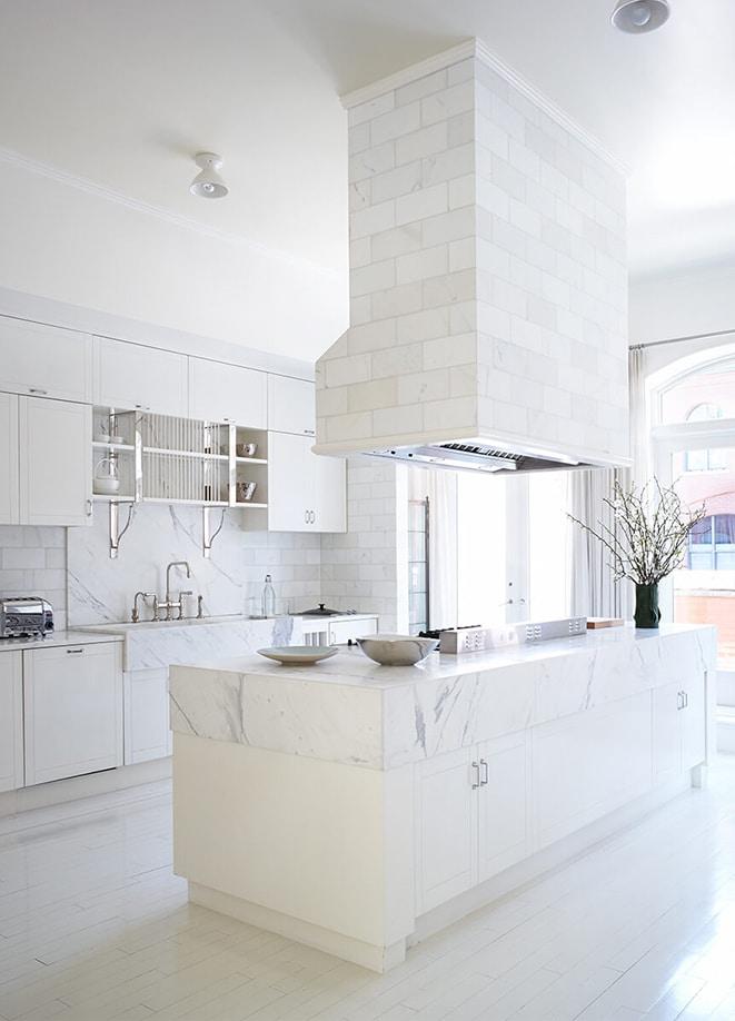 Gwyneth Paltrow's New York City apartment white kitchen