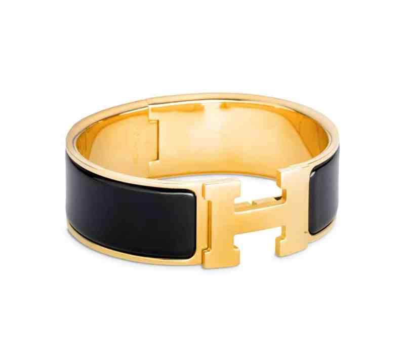 Hermes H Enamel Bracelet