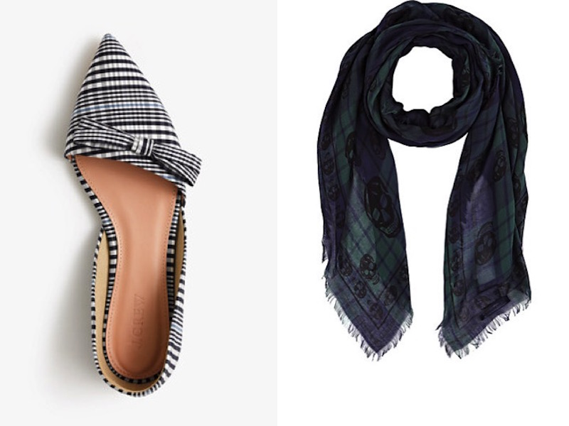 Perfectly Plaid JCrew Flats Alexander MQueen Scarf