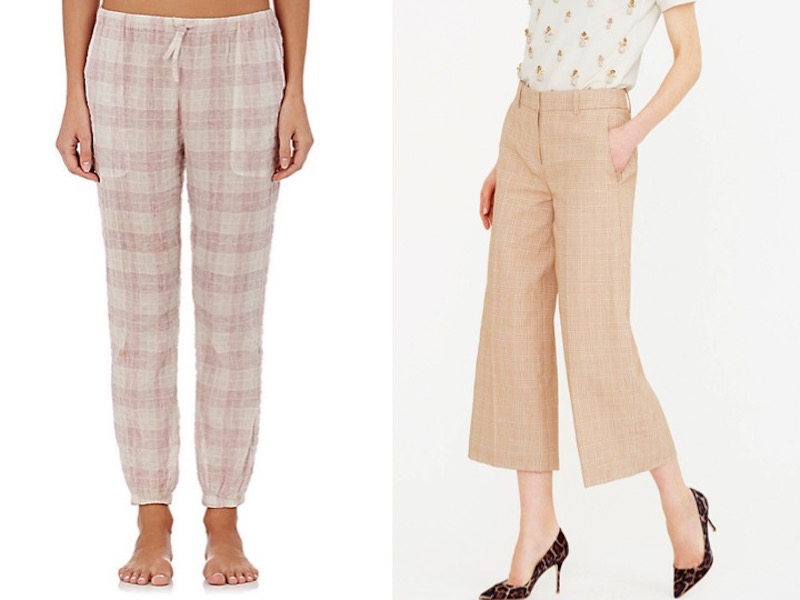 Perfectly Plaid Gaucho Pants Pajama PAnts