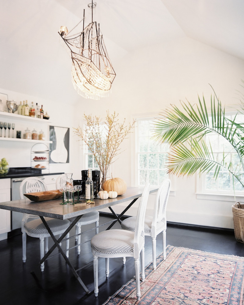 Bright White Kitchen Chandelier SAG Harbor Cottage