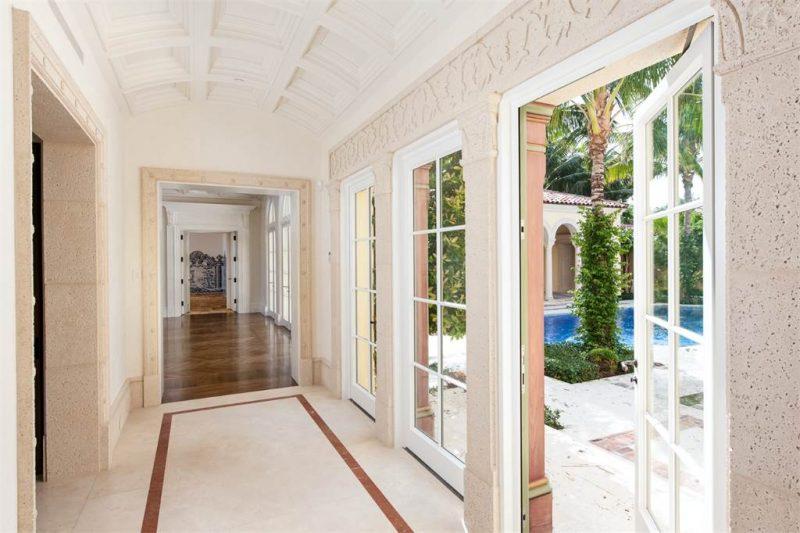 Palm Beach Estate Hallways
