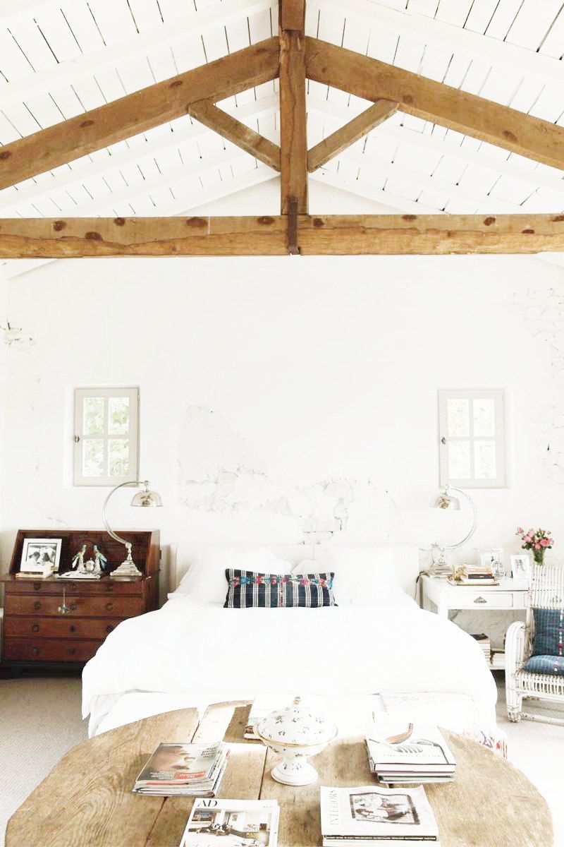 AFrame Ceilings  Exposed Beam Bedrooms  COCOCOZY