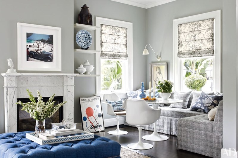 perfectly plaid living room architectural digest