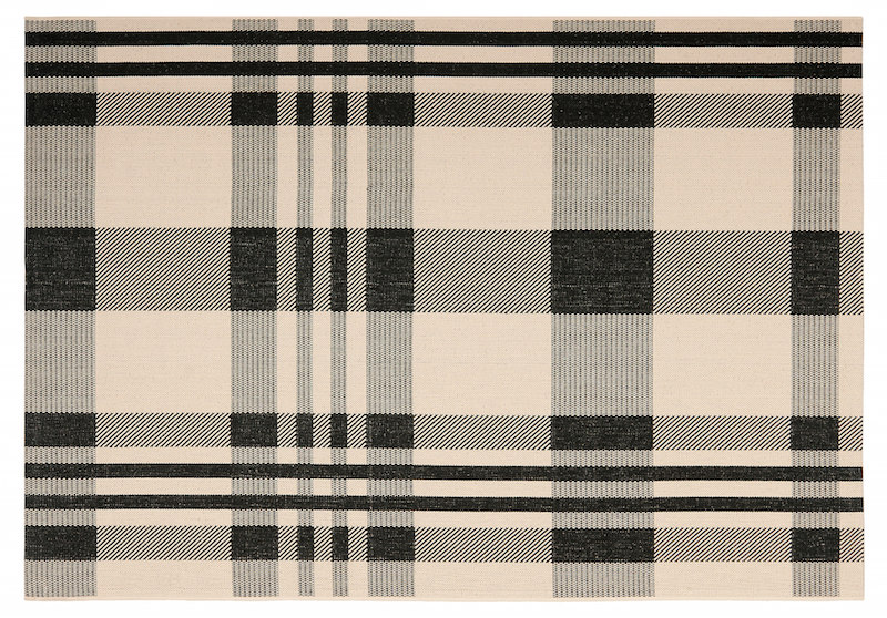 plaid outdoor rug