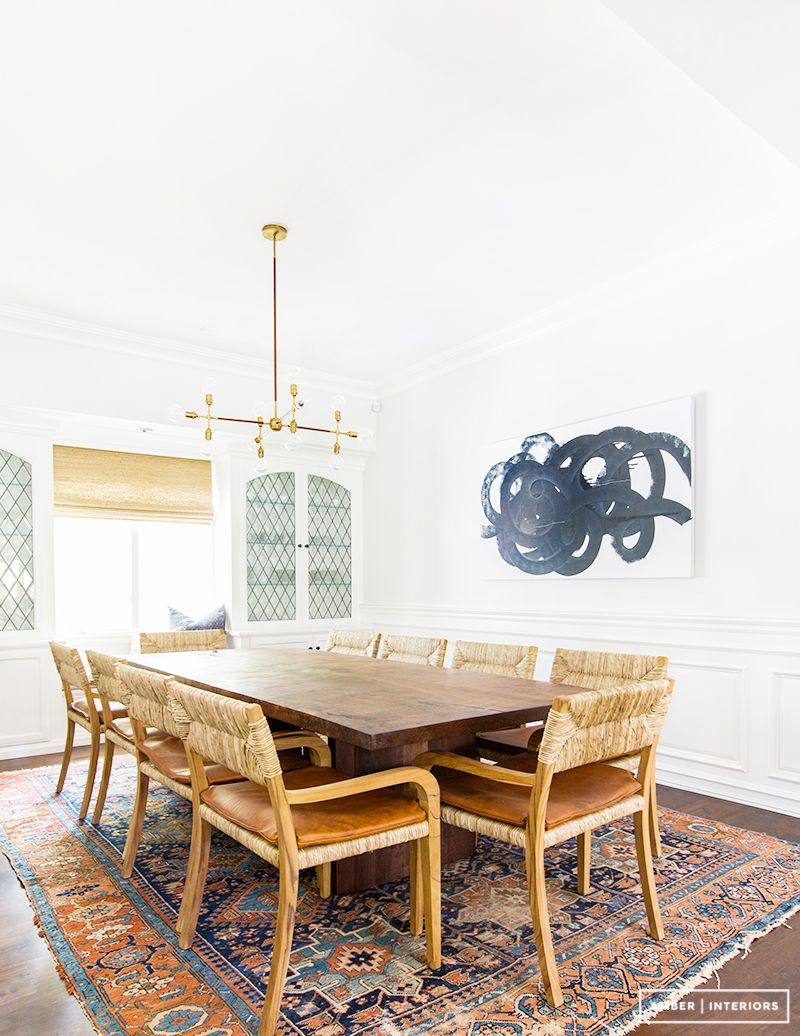 Camel Colored Dining Room Chairs Wooden Table Gold Modern Chandelier