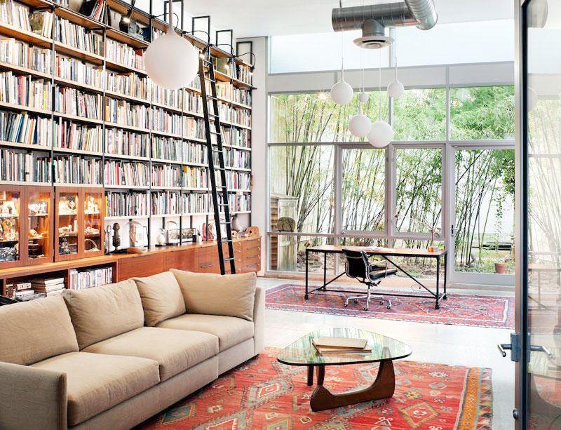 brooklyn warehouse loft oversized sofa bookshelves lovely lofts
