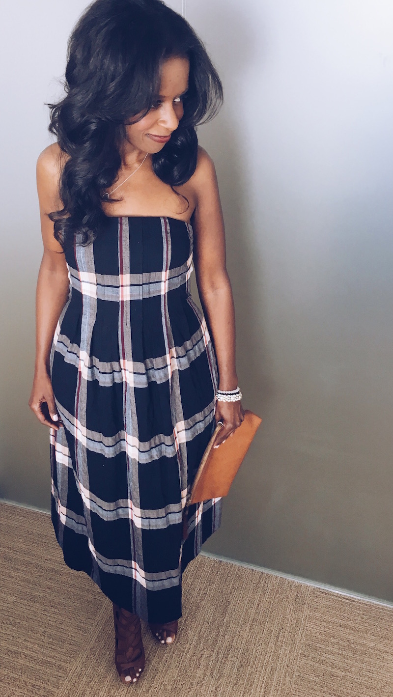 Club Monaco Perfectly Plaid Dress