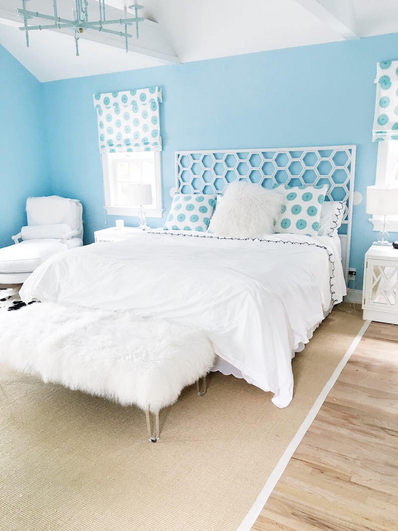 East Hampton Master Bedroom Bright White Bedding