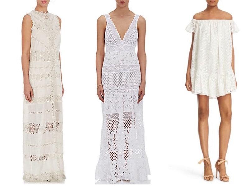eyelet crochet lace fashion finds dresses alice olivia temptation positano barneys