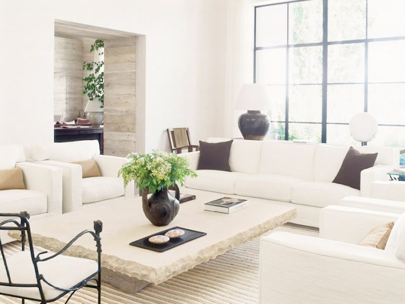 white couch living room. Living Room Stone Fireplace white couch Modern Rustic California Home Cococozy White Couch