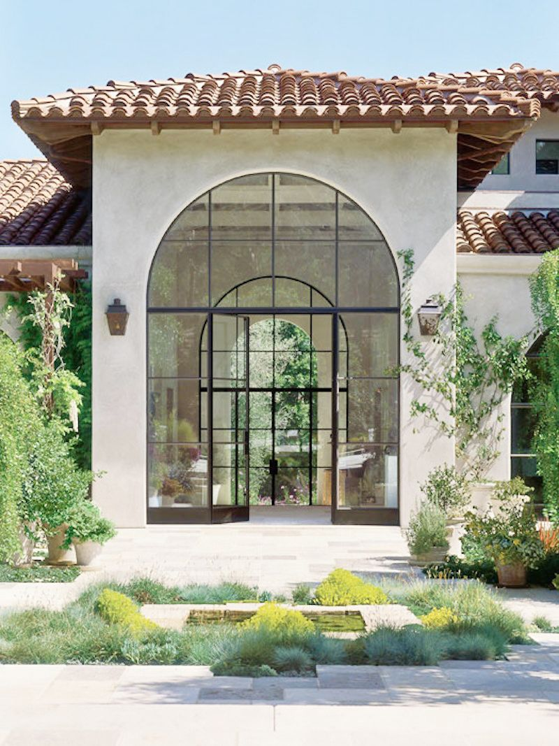 Modern Rustic California Home Front Door Grand Entrance