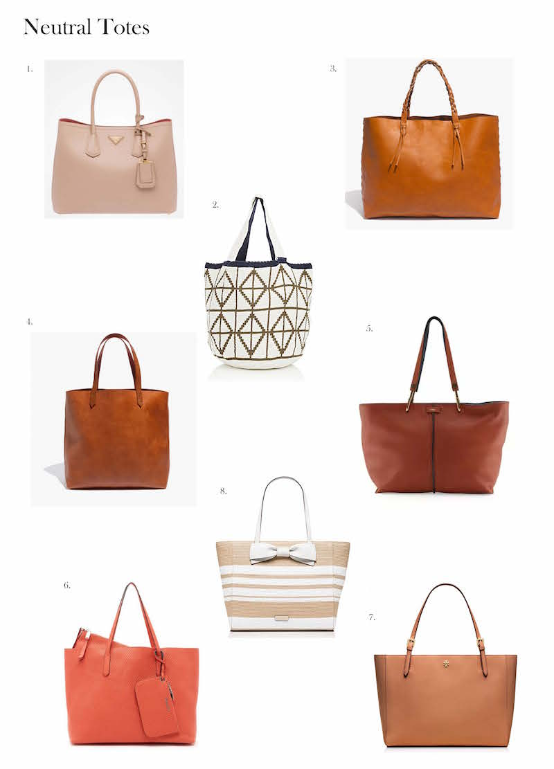 neutral tote bags