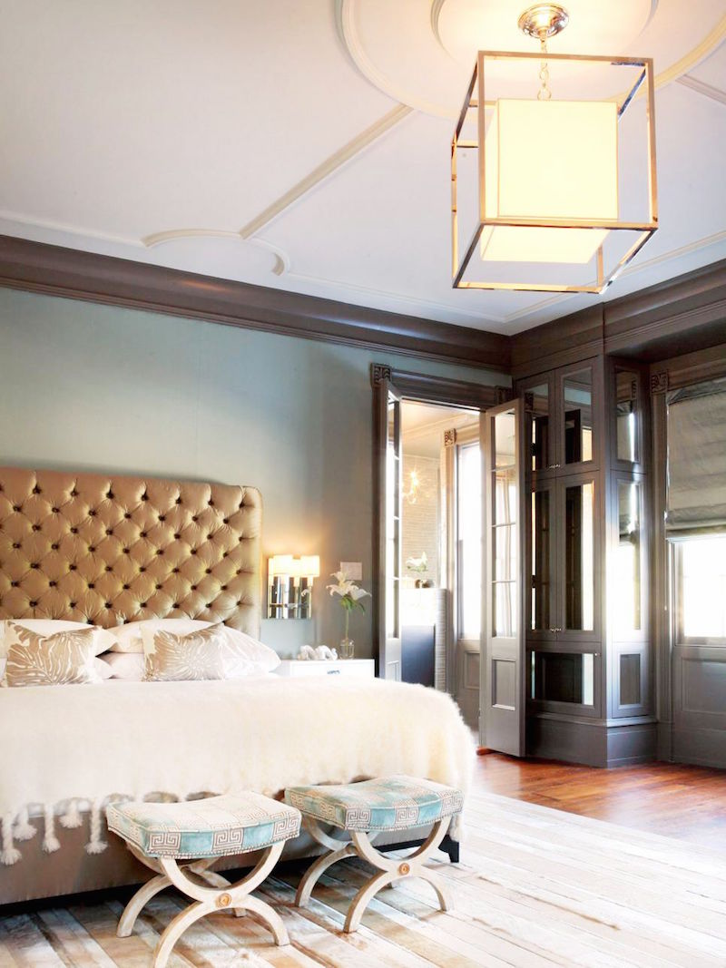 romantic tufted bed