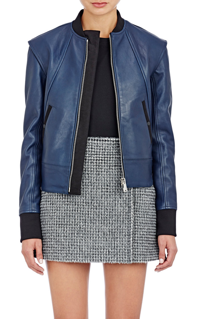 paco-rabane-blue-leather-bomber-jacket-cococozy