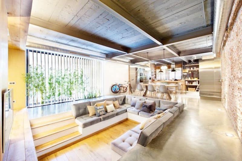 lovely lofts oversized u shaped sofa large great room