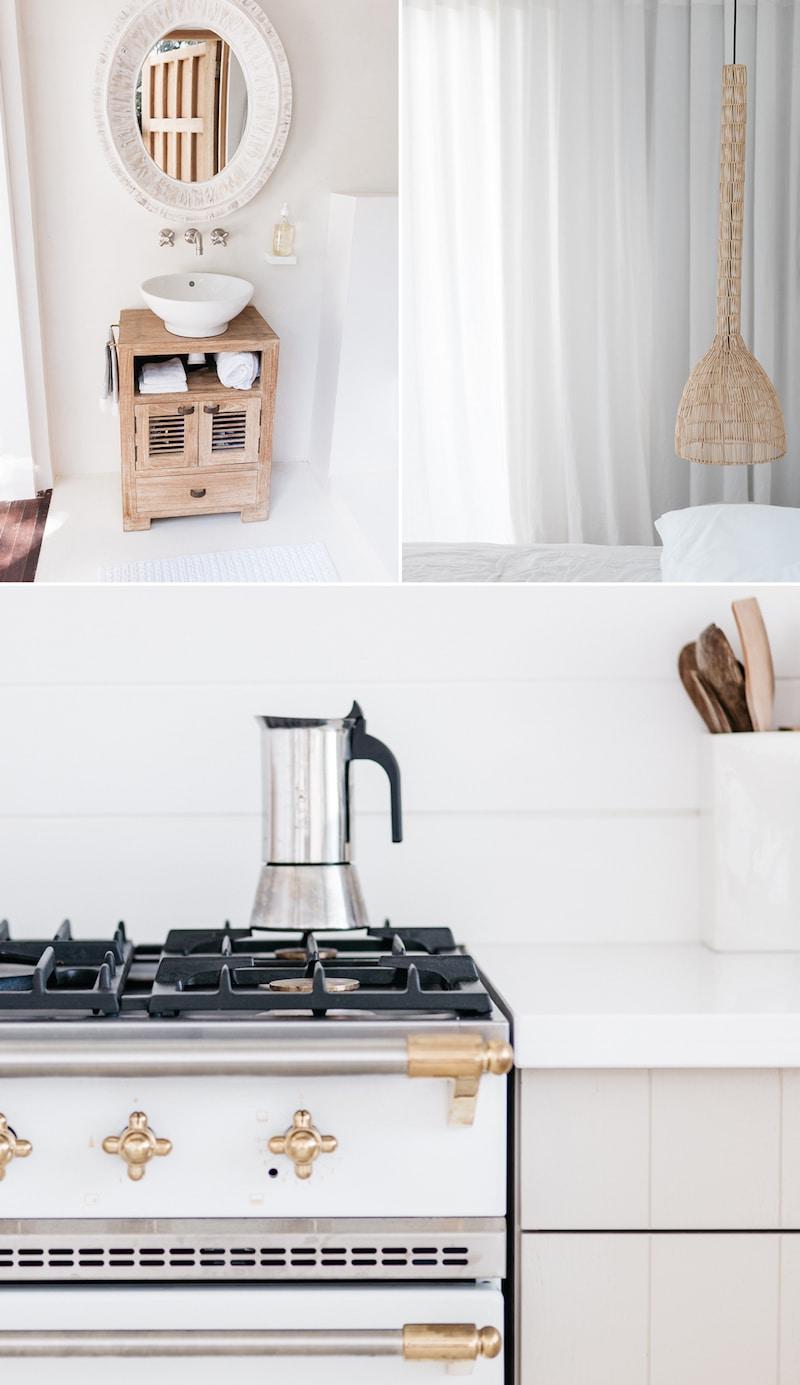 st barts villa tour kitchen french press