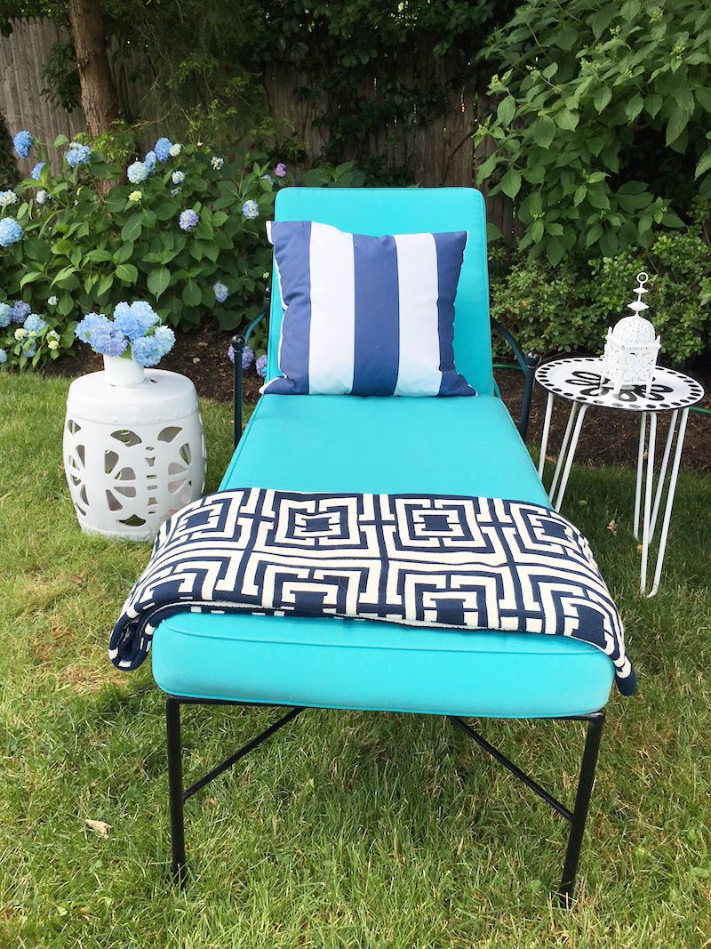 Lounge Area Turquoise Chaise Lounge Chair
