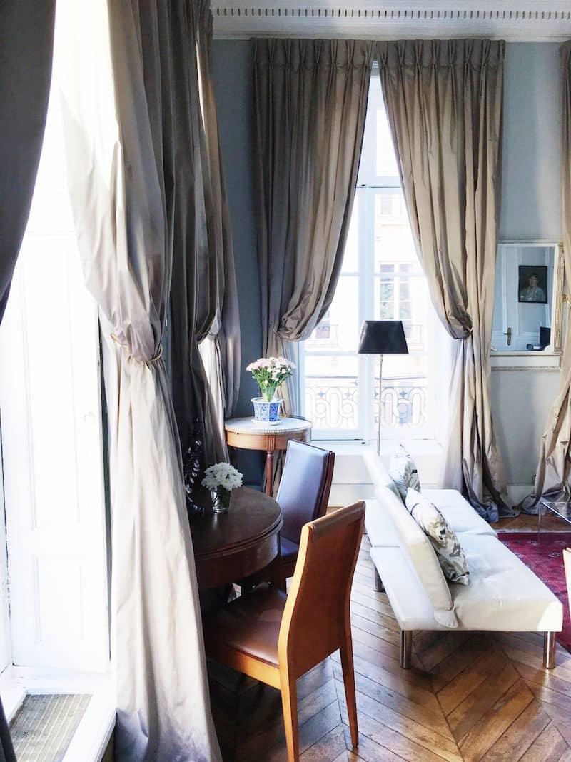 Paris Apartment Living Room Herringbone Floor