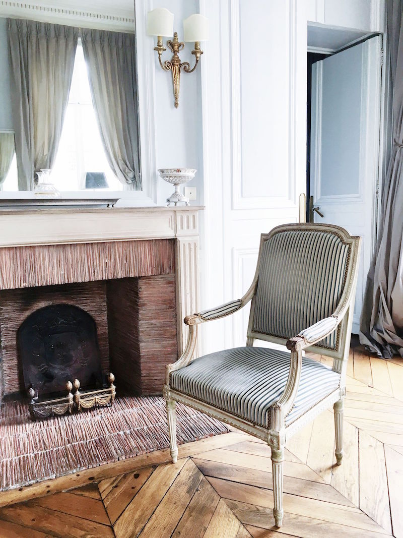 Paris Apartment Fireplace Mantle Chair