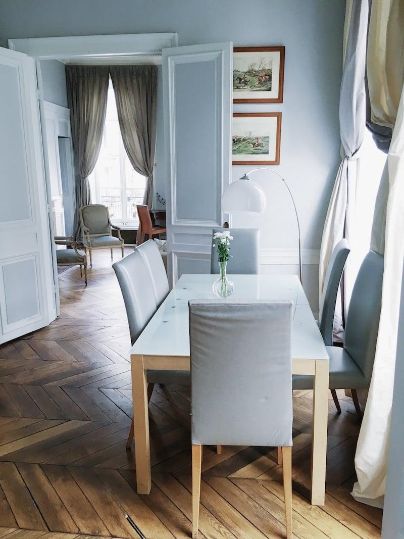 Paris Dining Room Chevron Floors Table Chairs