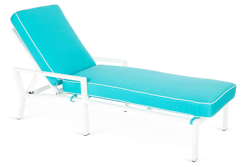 Parkview Turquoise chaise lounge chair