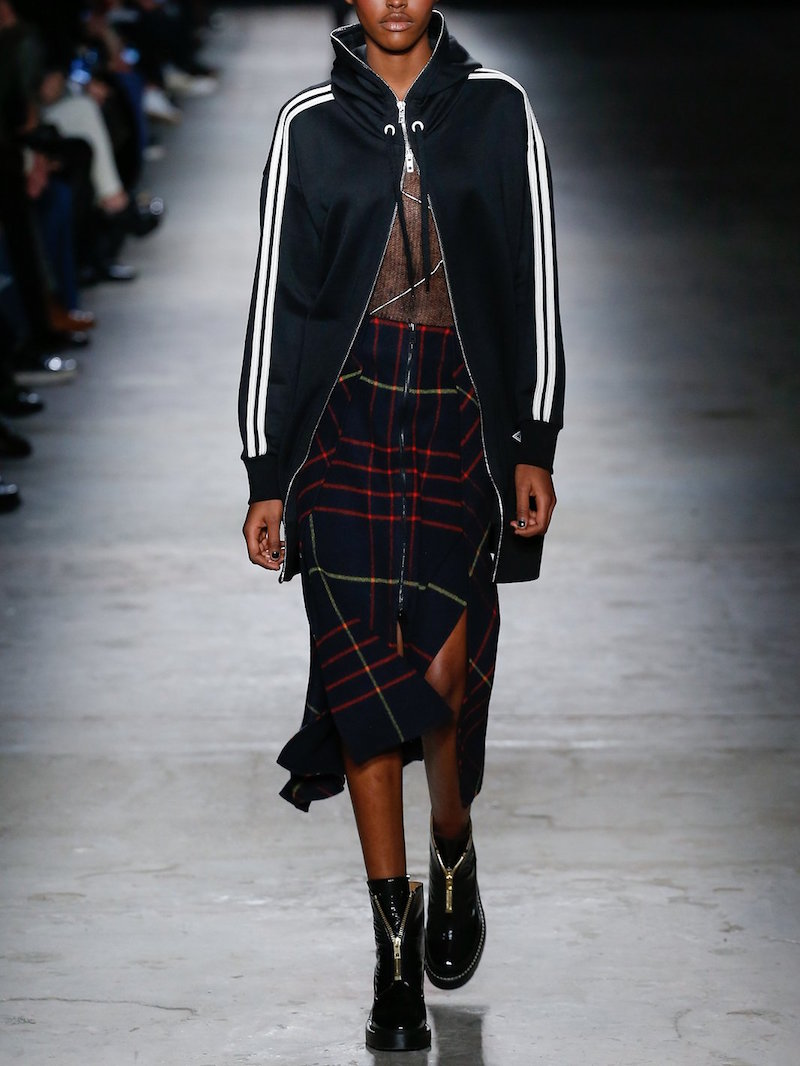 Rag Bone Plaid Skirt Jersey Track Jacket Fall Fashion Looks