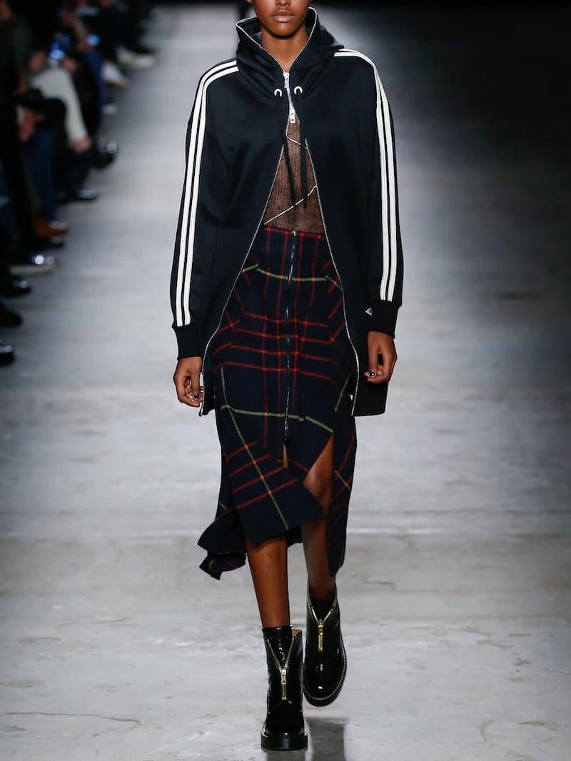 Rag Bone Plaid Skirt Jersey Track Jacket Fall Fashion Looks