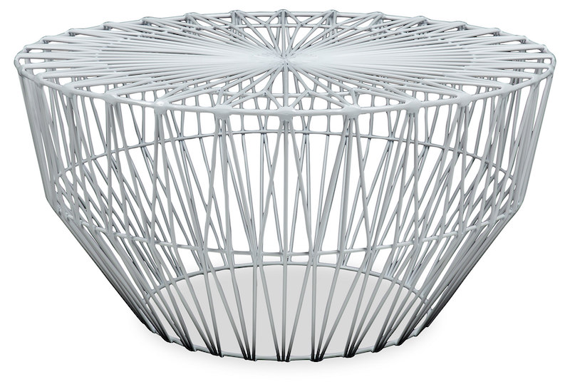 lounge area round wire side table