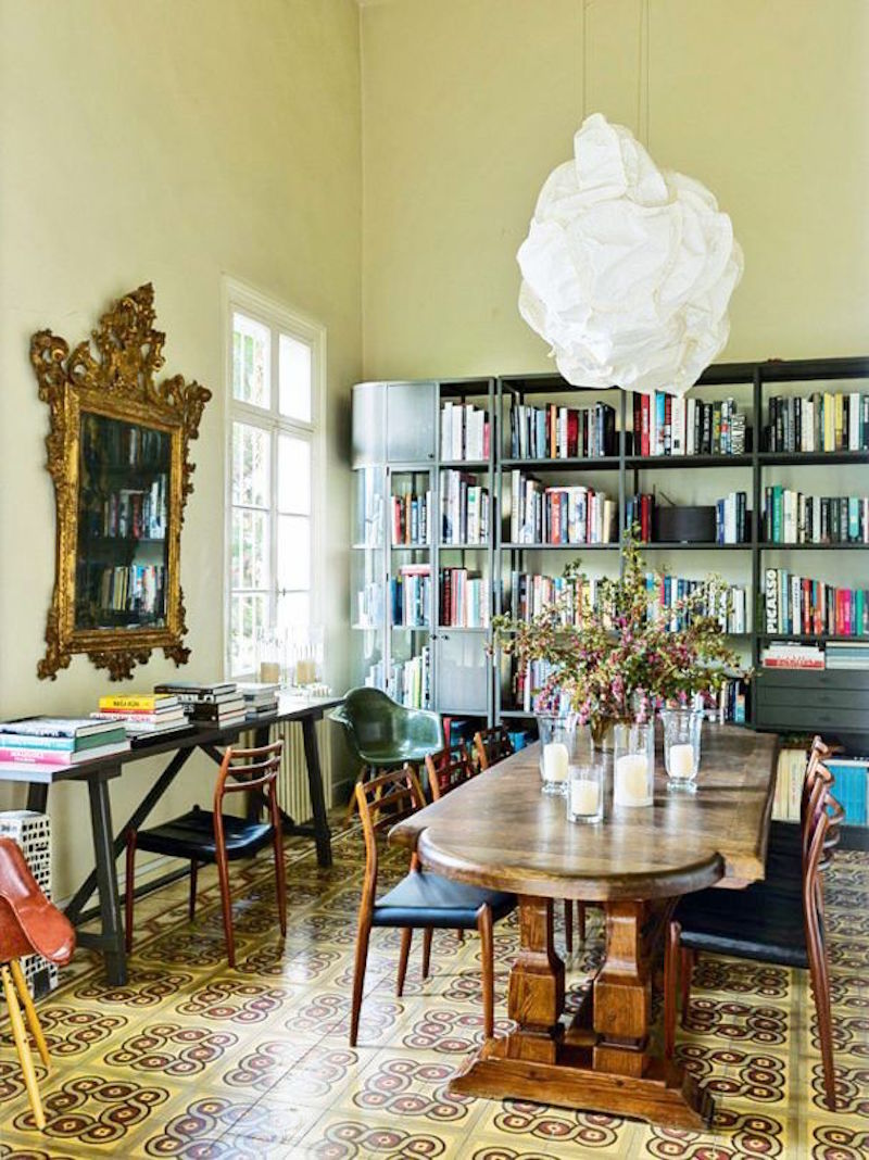Lebanese Home Tour Library Tile Floors