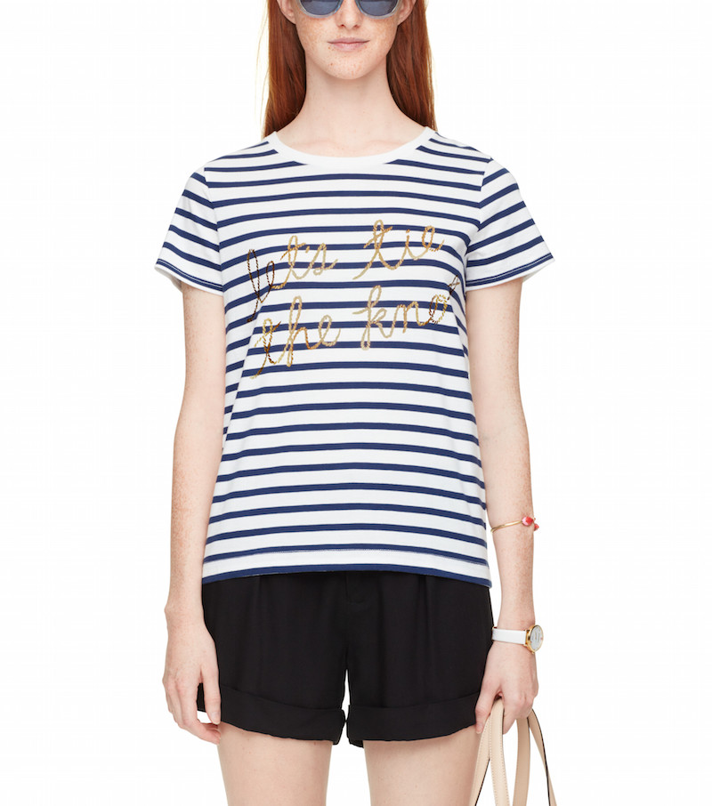 lets tie the knot kate spade graphic tees