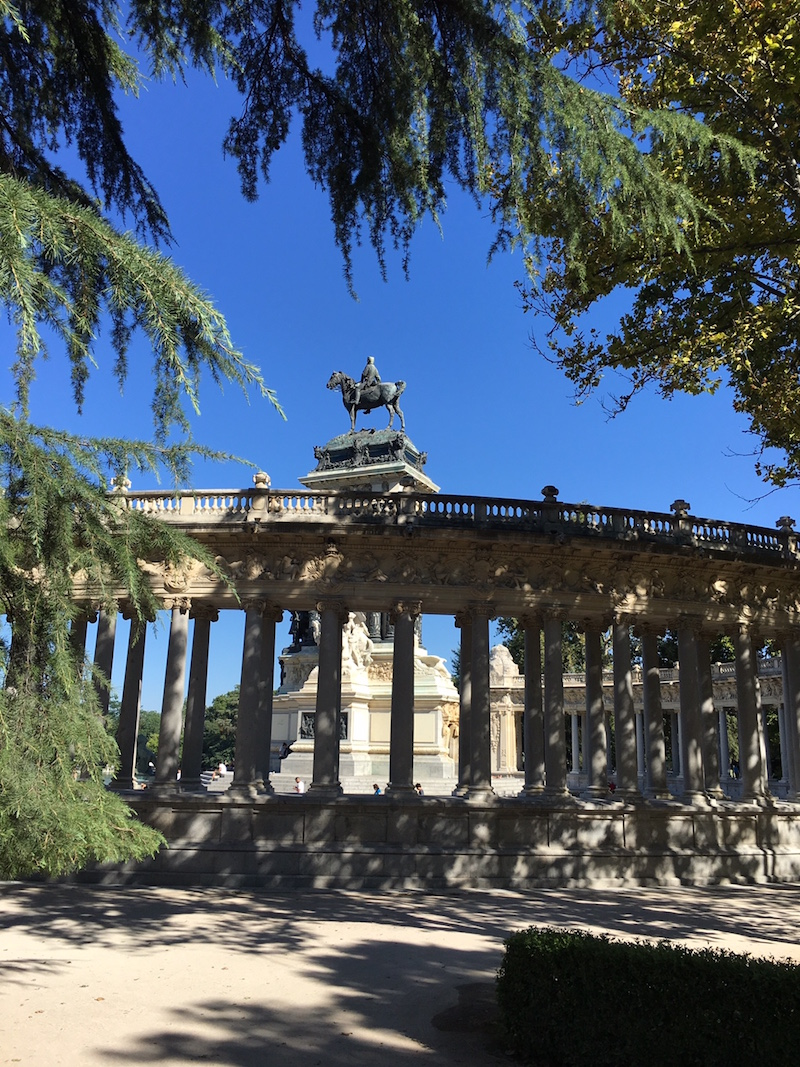 retiro park monument alfonso xii madrid