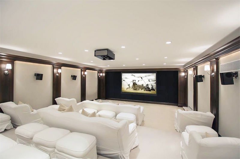 southampton estate home theater