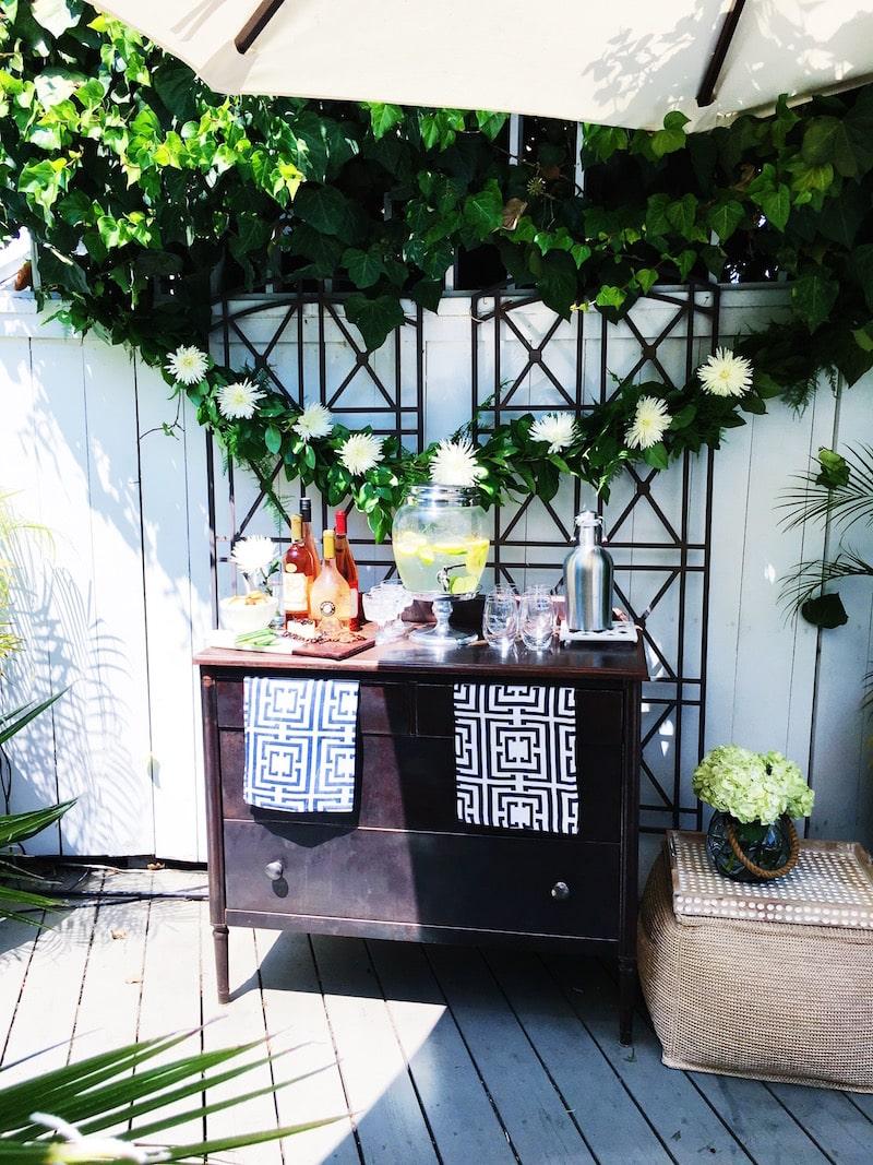 summer outdoor wine bar patio cococozy shutterfly custom decor